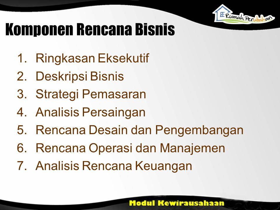 Komponen Rencana Bisnis