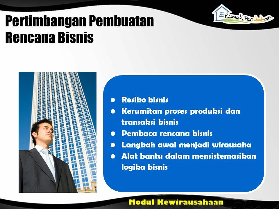Pertimbangan Pembuatan Rencana Bisnis