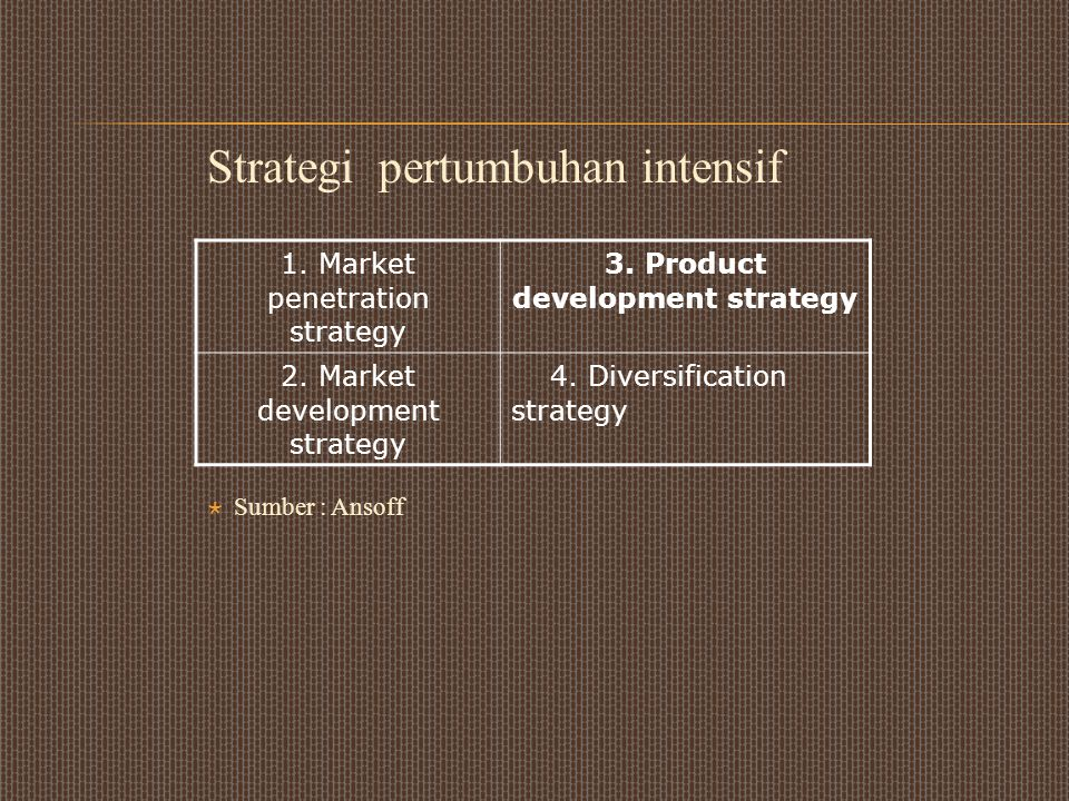 3. Product development strategy