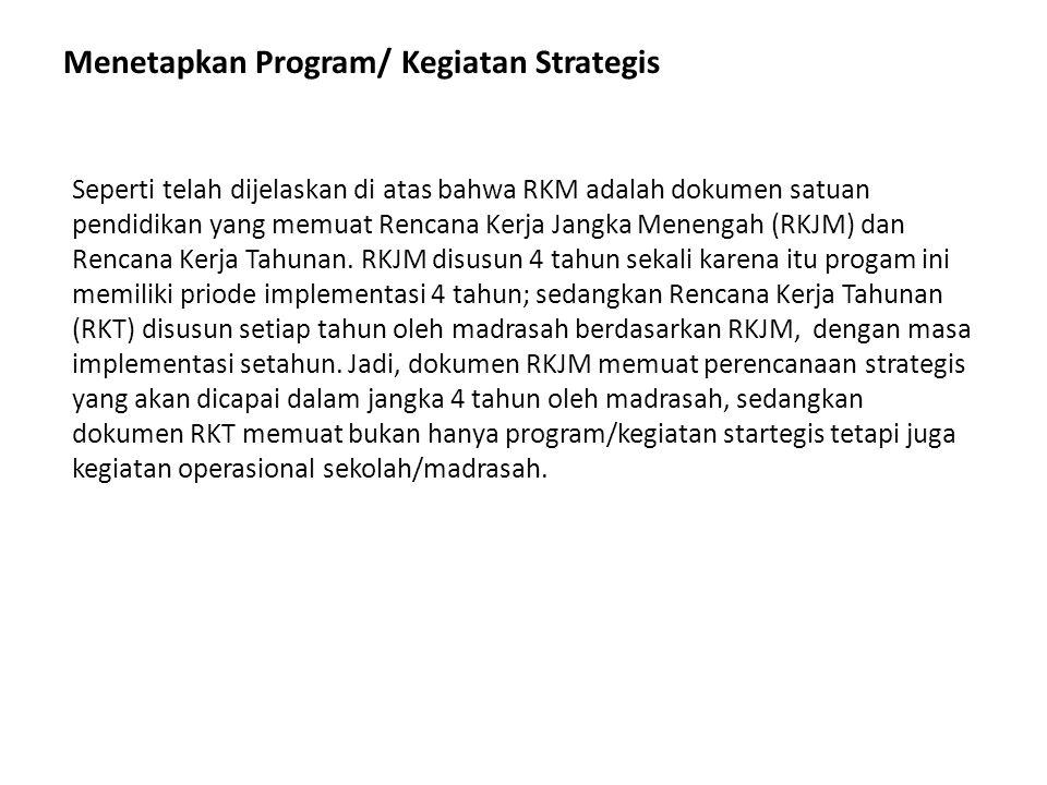 Menetapkan Program/ Kegiatan Strategis
