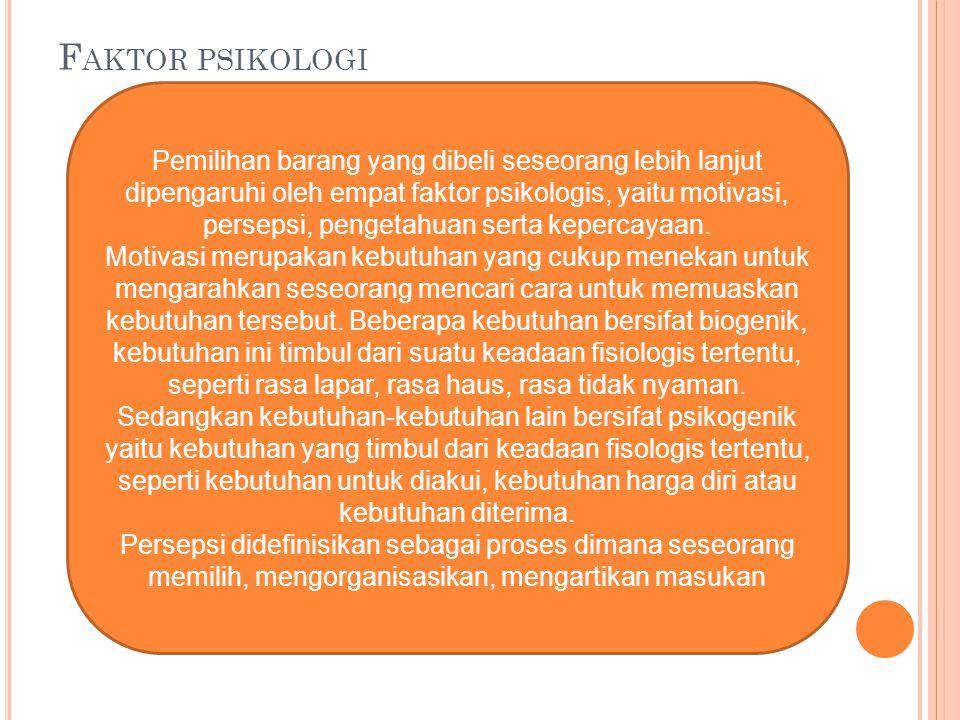 Faktor psikologi