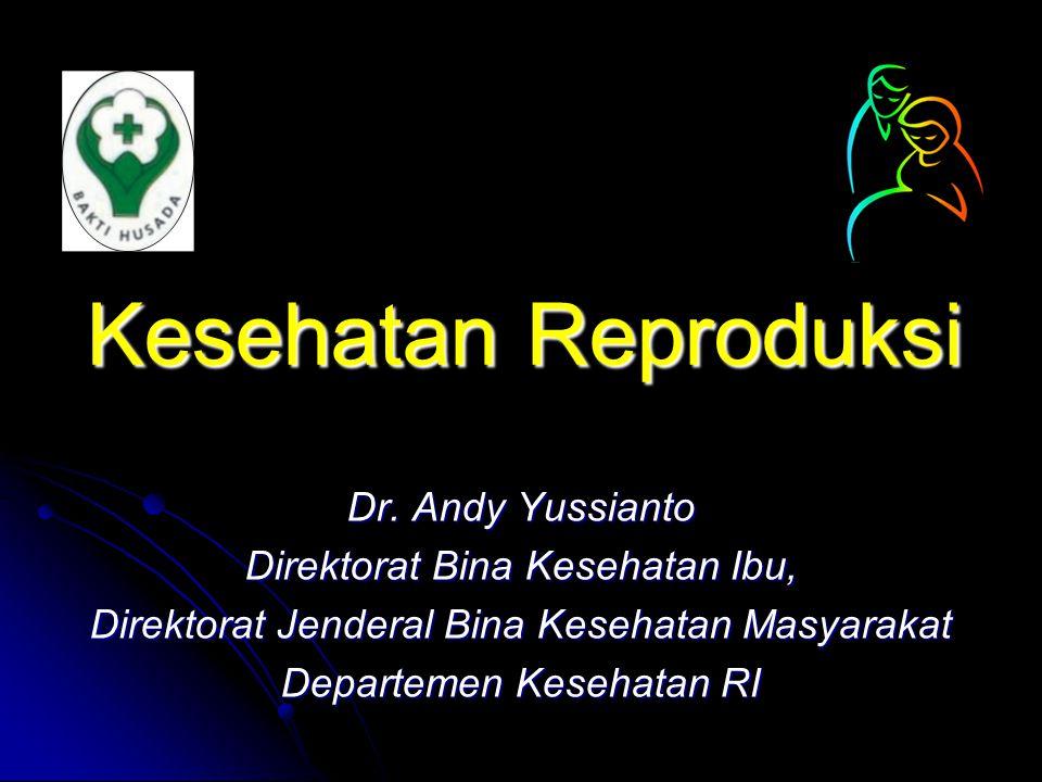Kesehatan Reproduksi Dr. Andy Yussianto Direktorat Bina Kesehatan Ibu,