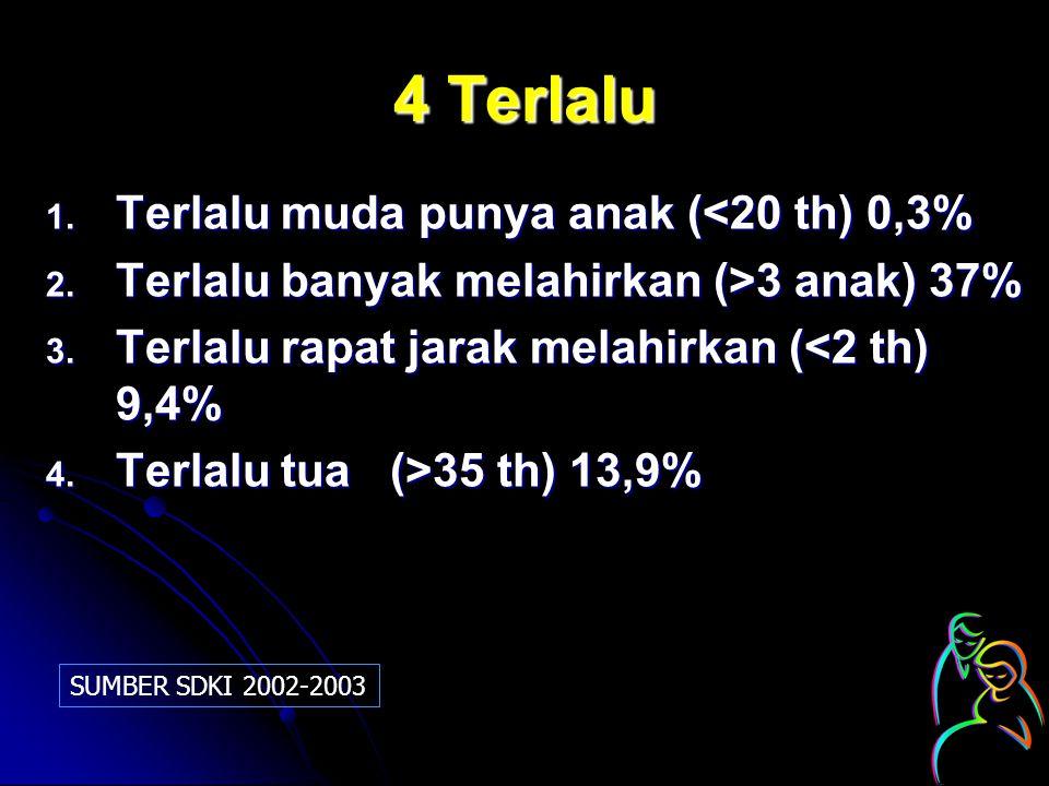 4 Terlalu Terlalu muda punya anak (<20 th) 0,3%