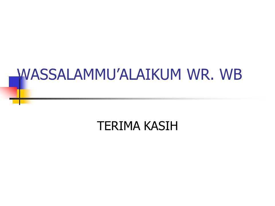 WASSALAMMU'ALAIKUM WR. WB