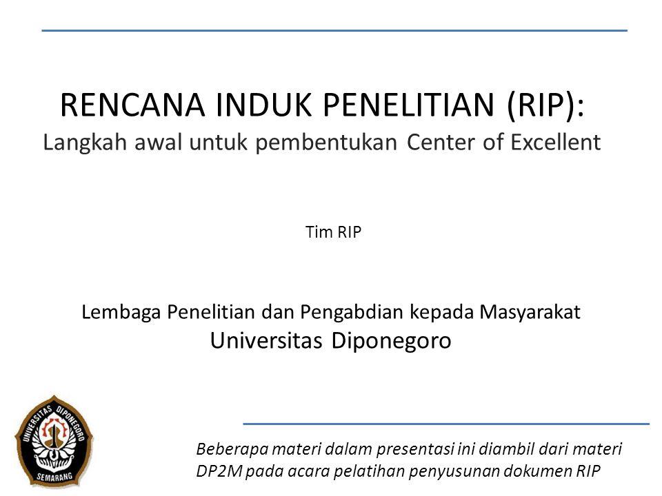 RENCANA INDUK PENELITIAN (RIP):