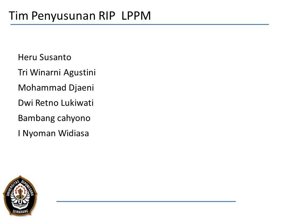 Tim Penyusunan RIP LPPM