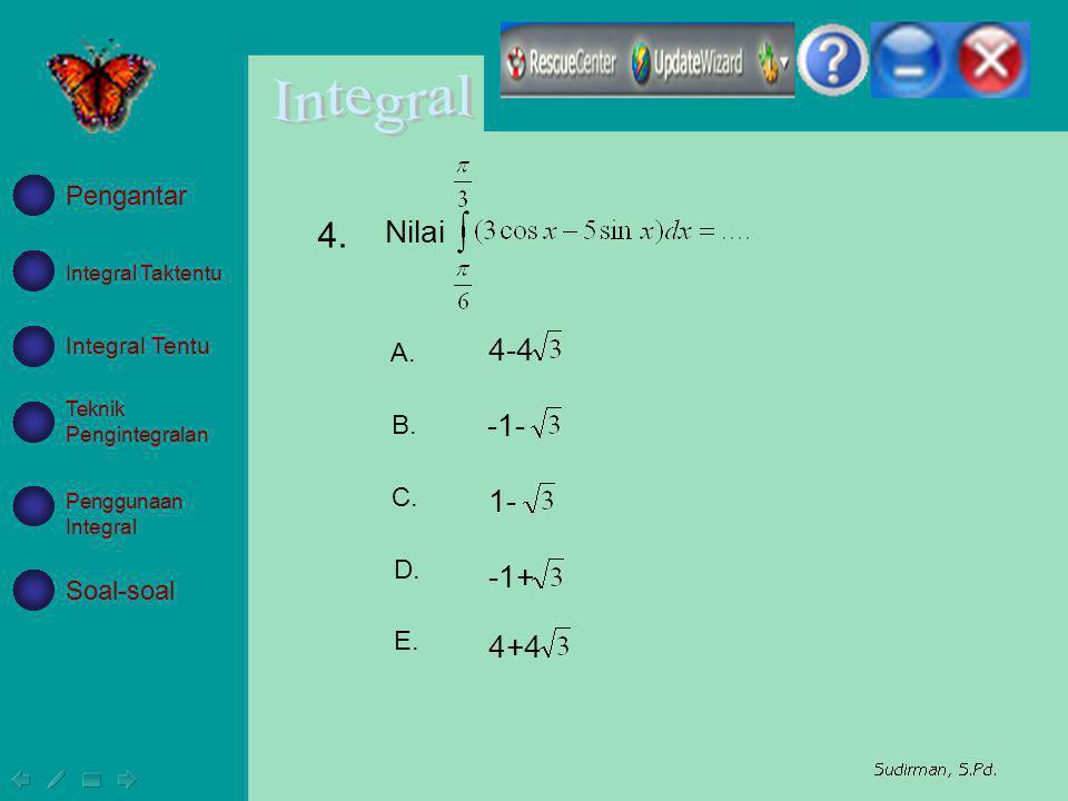 4. Nilai 4-4 -1- 1- -1+ 4+4 Pengantar A. B. C. D. Soal-soal E.