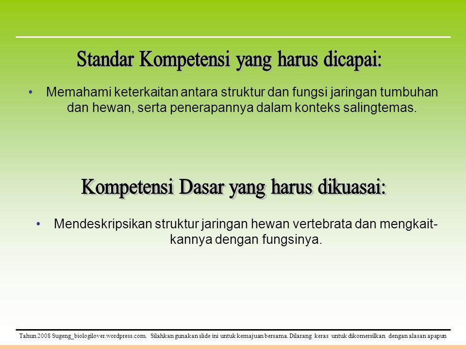 Standar Kompetensi yang harus dicapai: