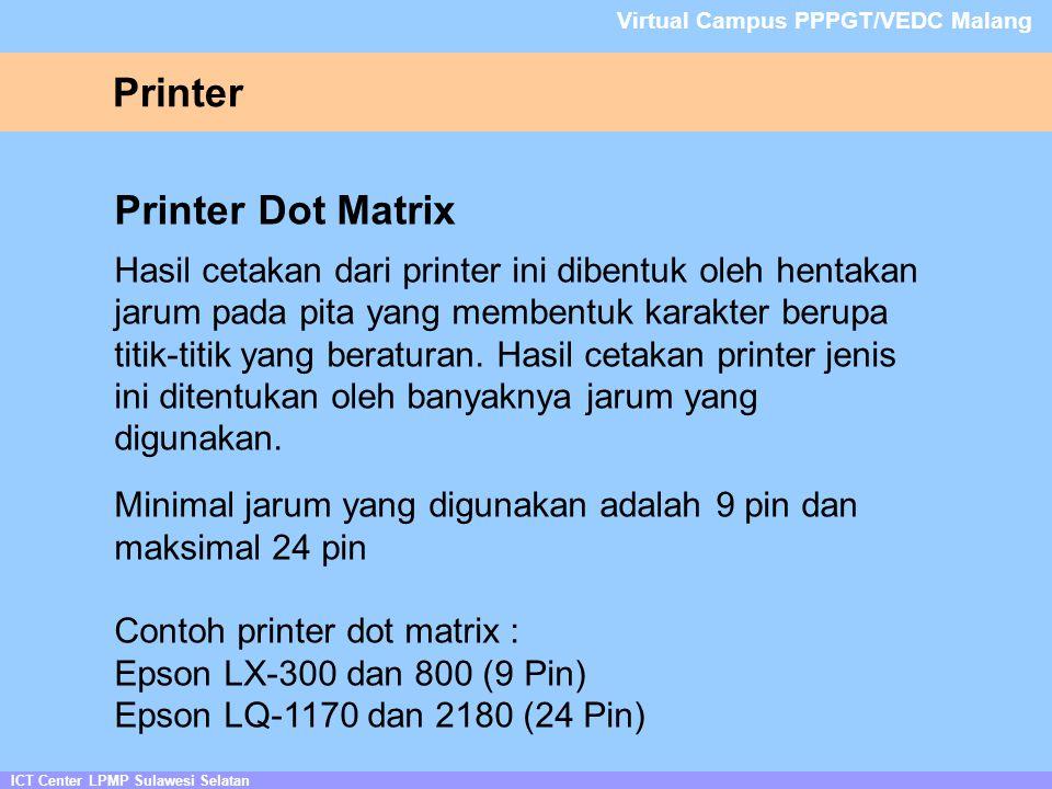 Printer Printer Dot Matrix