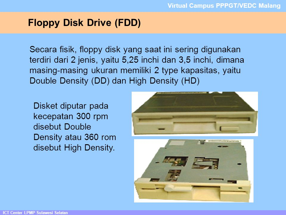 Floppy Disk Drive (FDD)