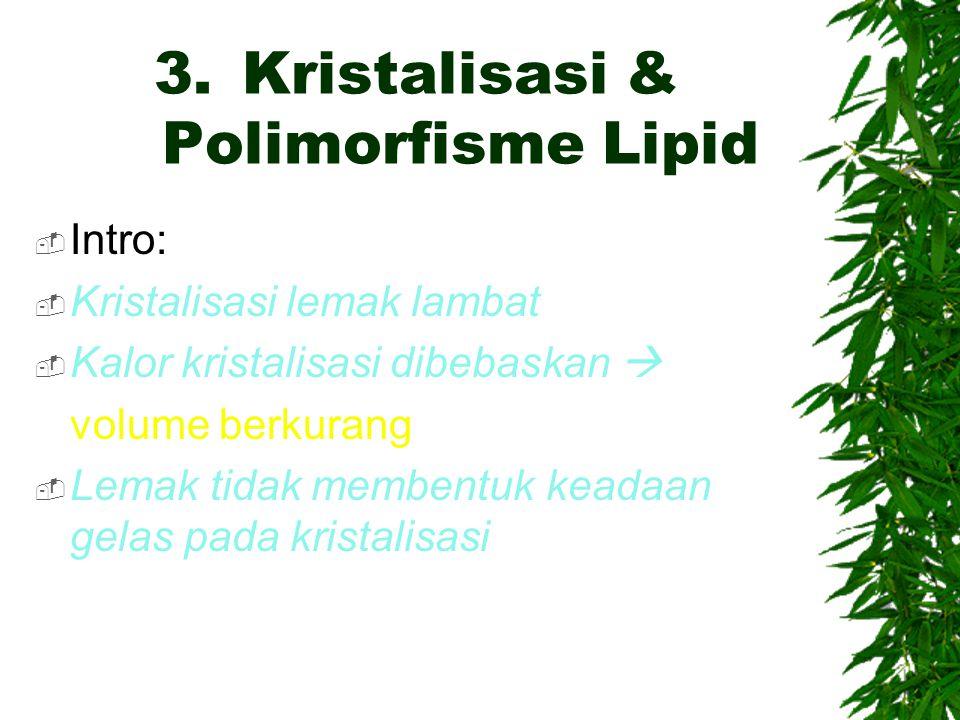 Kristalisasi & Polimorfisme Lipid