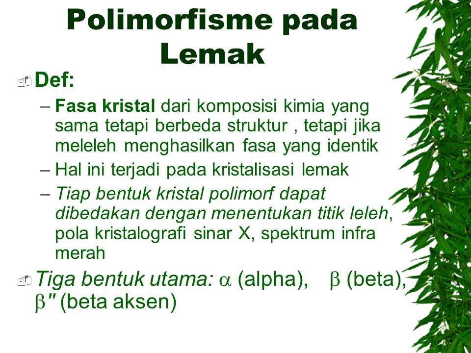 Polimorfisme pada Lemak