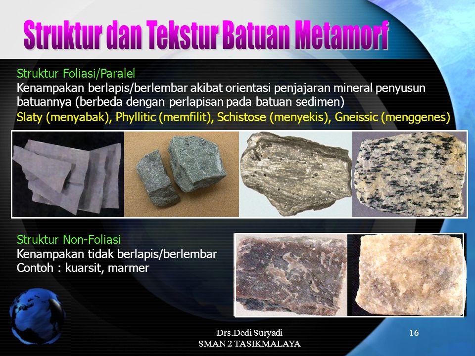 Struktur dan Tekstur Batuan Metamorf