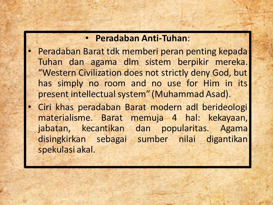 Peradaban Anti-Tuhan: