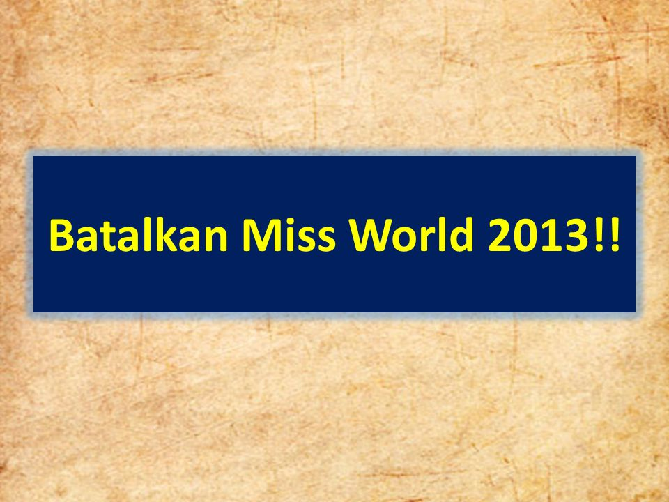 Batalkan Miss World 2013!!