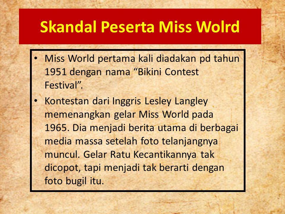 Skandal Peserta Miss Wolrd