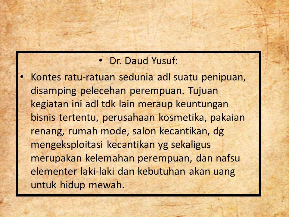 Dr. Daud Yusuf: