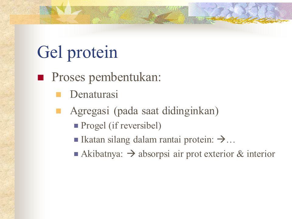 Gel protein Proses pembentukan: Denaturasi