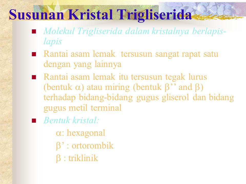 Susunan Kristal Trigliserida