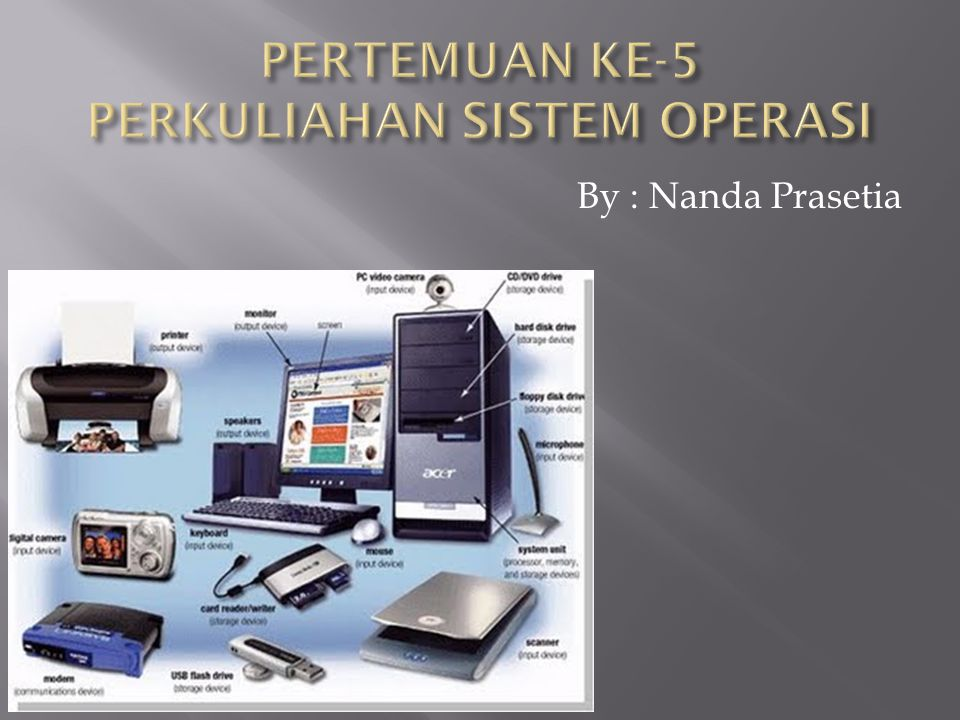 PERTEMUAN KE-5 PERKULIAHAN SISTEM OPERASI