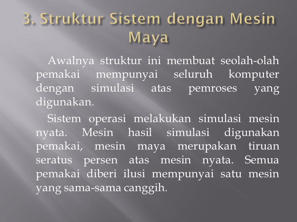 3. Struktur Sistem dengan Mesin Maya