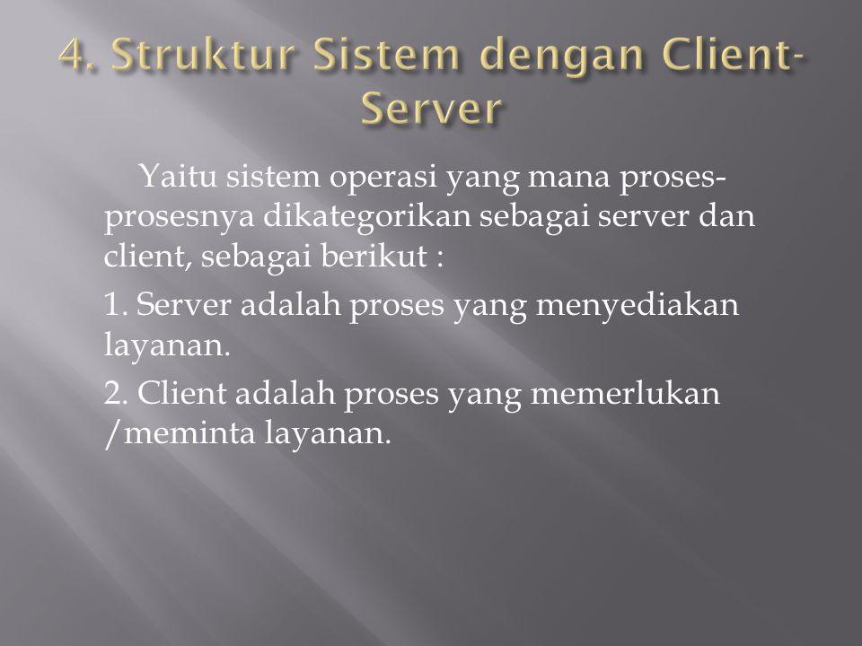 4. Struktur Sistem dengan Client-Server