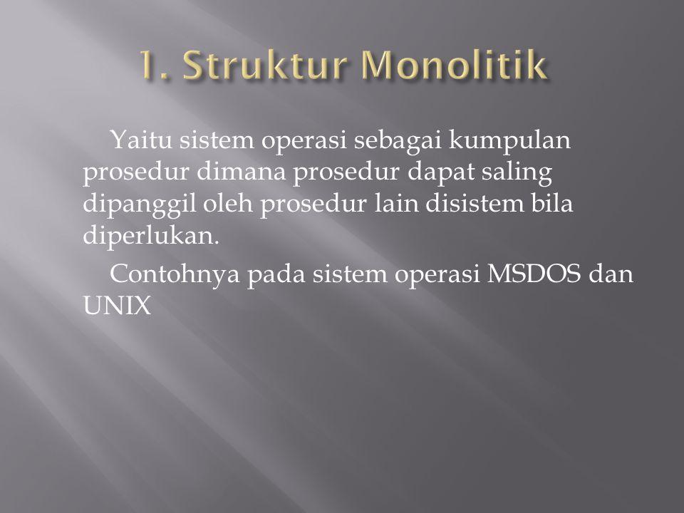 1. Struktur Monolitik