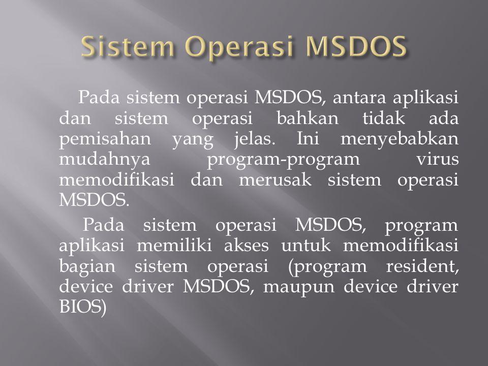 Sistem Operasi MSDOS
