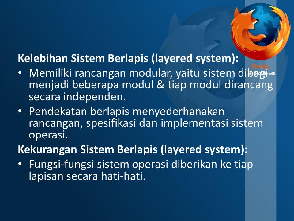 Kelebihan Sistem Berlapis (layered system):