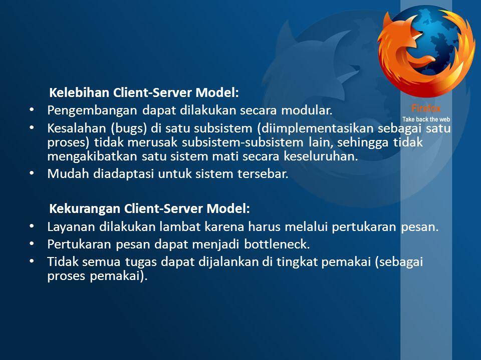 Kelebihan Client-Server Model:
