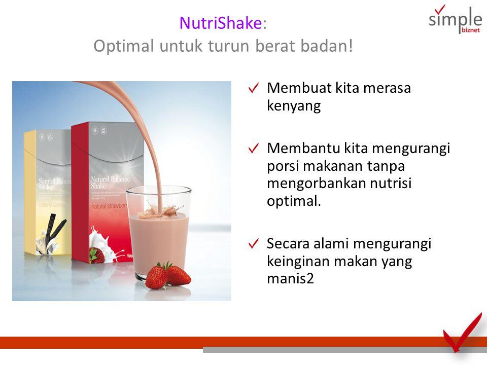 NutriShake: Optimal untuk turun berat badan!