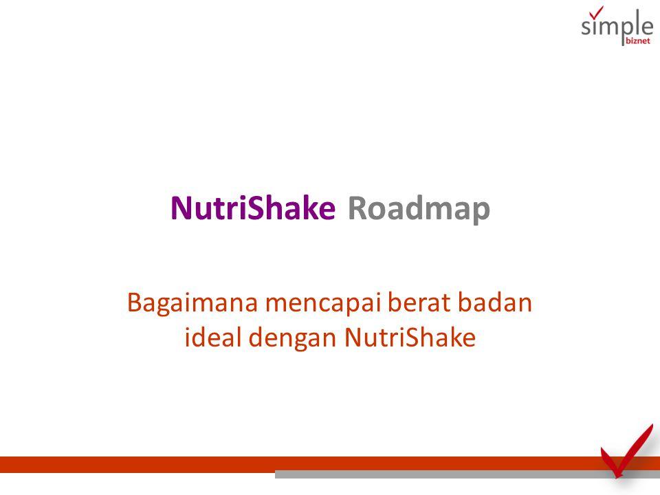Bagaimana mencapai berat badan ideal dengan NutriShake