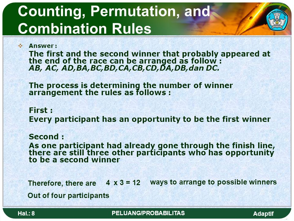 Counting, Permutation, and Combination Rules