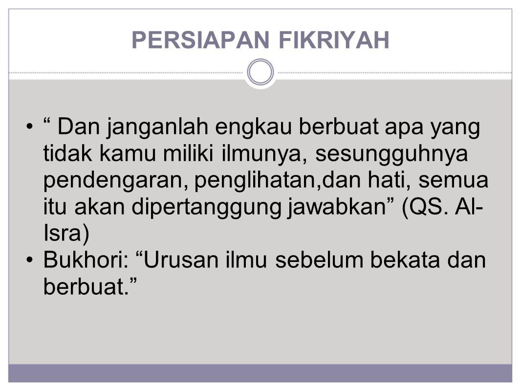 PERSIAPAN FIKRIYAH