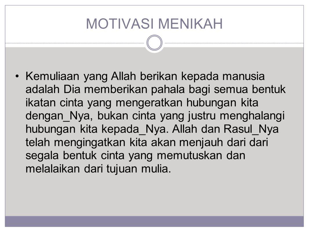 MOTIVASI MENIKAH