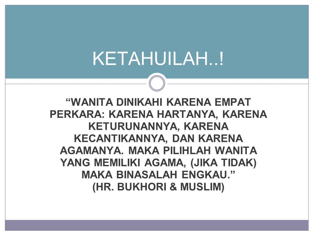 KETAHUILAH..!