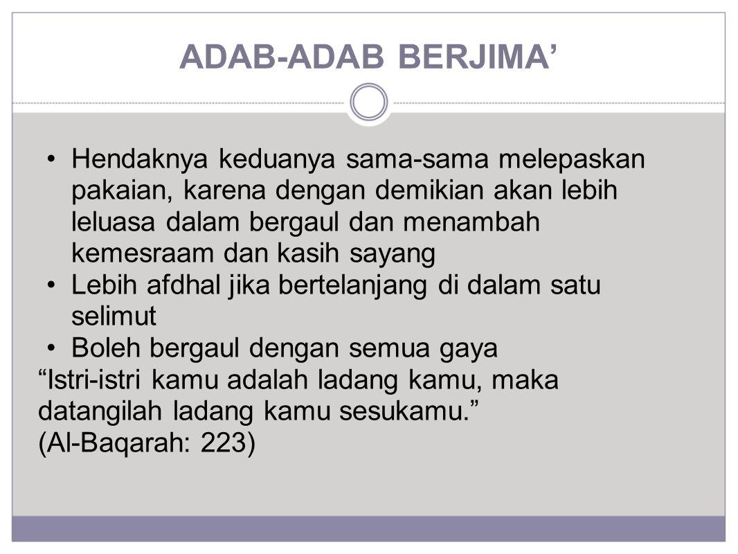 ADAB-ADAB BERJIMA'