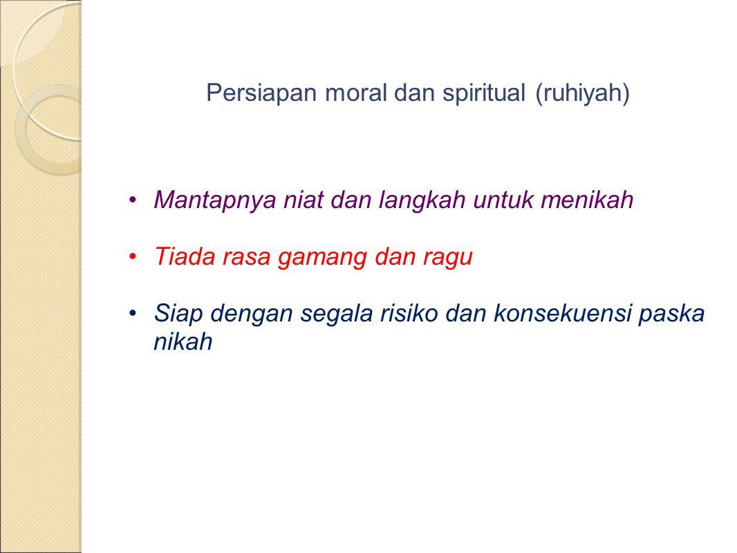 Persiapan moral dan spiritual (ruhiyah)