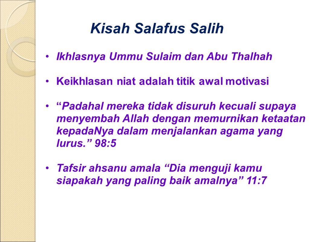 Kisah Salafus Salih Ikhlasnya Ummu Sulaim dan Abu Thalhah