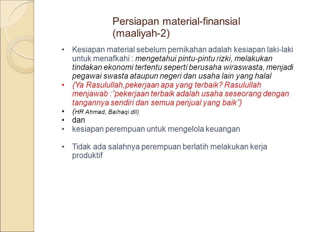 Persiapan material-finansial (maaliyah-2)