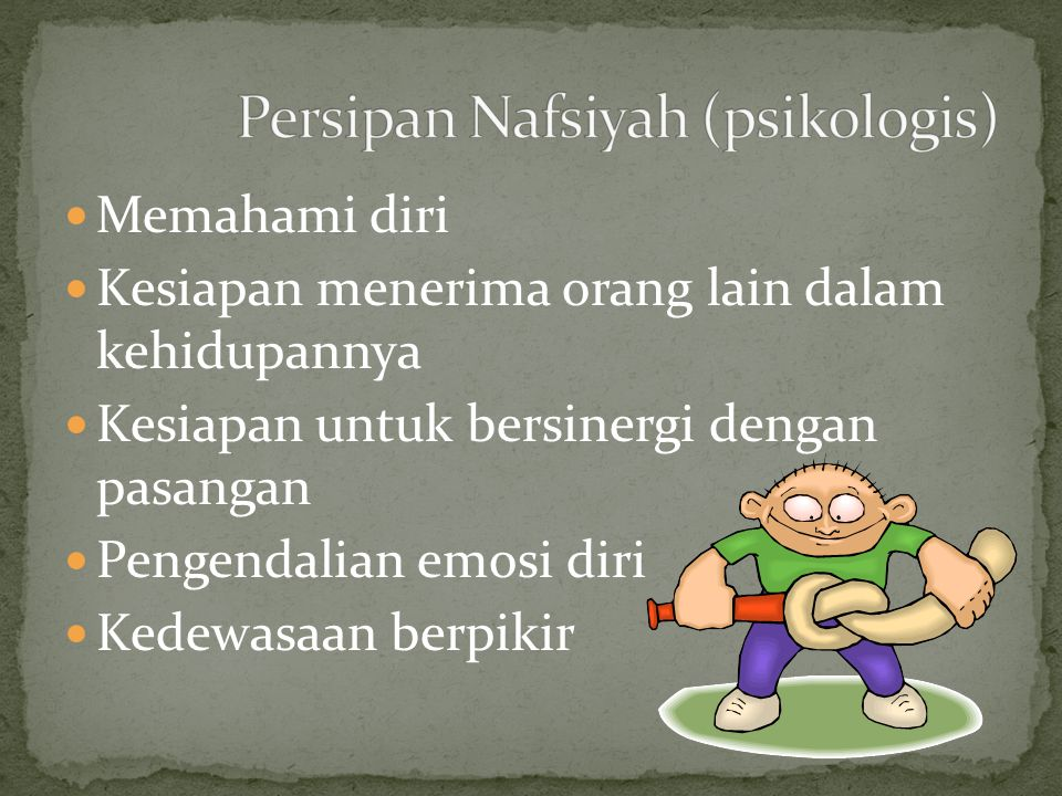 Persipan Nafsiyah (psikologis)
