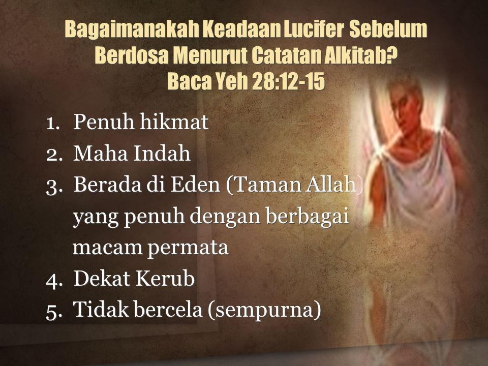 Bagaimanakah Keadaan Lucifer Sebelum Berdosa Menurut Catatan Alkitab