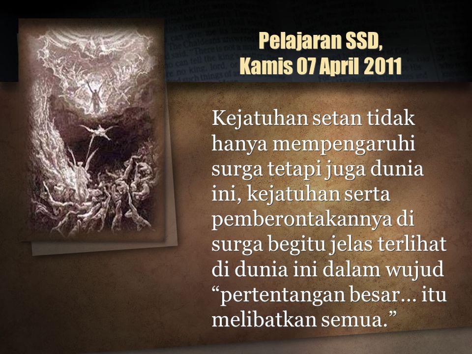 Pelajaran SSD, Kamis 07 April 2011