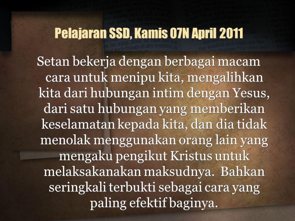 Pelajaran SSD, Kamis 07N April 2011