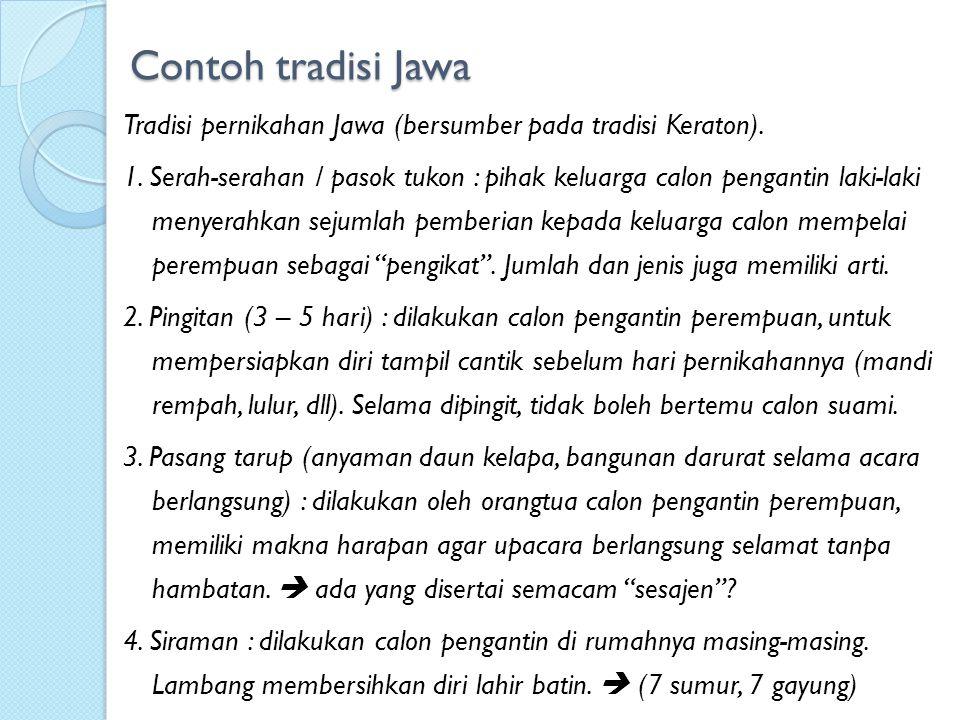 Contoh tradisi Jawa