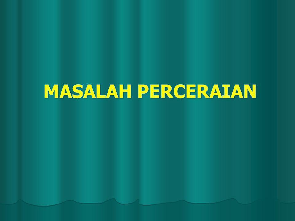 MASALAH PERCERAIAN