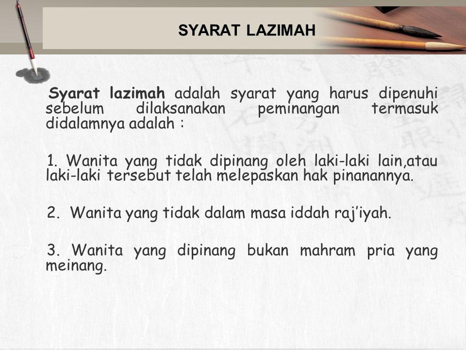 SYARAT LAZIMAH