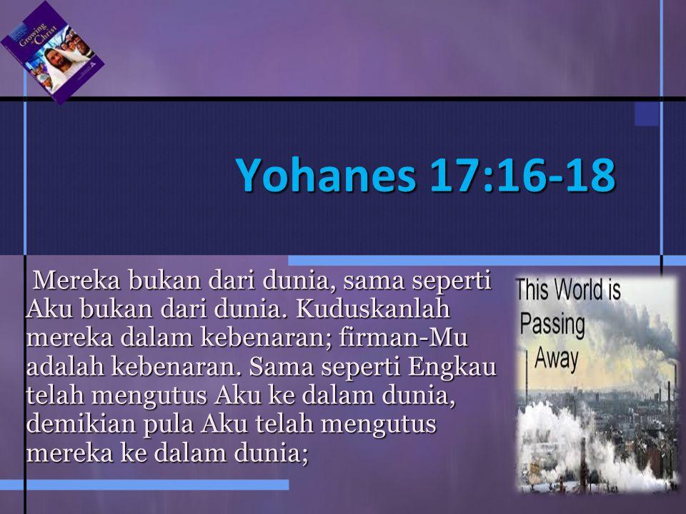 Yohanes 17:16-18