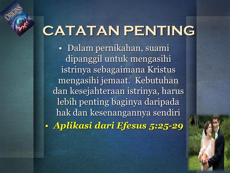 Aplikasi dari Efesus 5:25-29