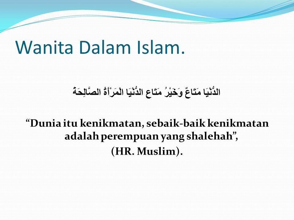 Wanita Dalam Islam.